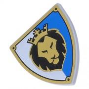 Lego Parts: Minifigure Blue & White Lion Shield & Coat Of Arms Tile