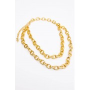 JFR Multi Layer Choker Necklace - Golden Chains