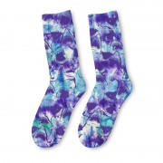 Mr. Gugu & Miss Go Tie Dye Shark Unisex Midi Socks SOM1527