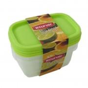 Set 3 cutii alimente Curver Best Set dreptunghiulare 3 x 500 ml