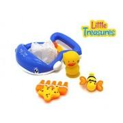 Blue Whale Scoop Net Bathtub Bath Toy Set For 12 Months Plus Babies
