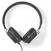 Nedis FSHP100AT vezetékes fejhallgató, antracit-fekete