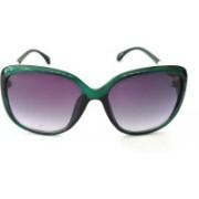 PIXEL EYE KART Cat-eye Sunglasses(Green)