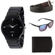 Zesta Analog Watch, Wallet, Round Sunglass Combo(Black)