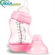 DIFRAX Butelka S antykolkowa szeroka 200 ml (różowa)