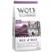 2x12kg Wolf of Wilderness Junior Wild Hills com frango ração