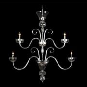 Lustra 4 brate cristal Bohemia, flat, silver