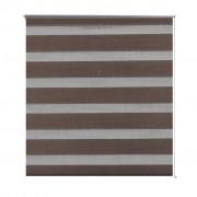 vidaXL Zebra Blind 40 x 100 cm Coffee