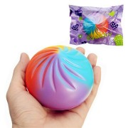 Squishy Rainbow Bun Random Color 8.5cm Soft Slow Rising With Packaging Collection Gift Decor Toy