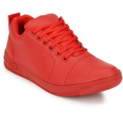 Lejano Mens Red Lace up Sneakers