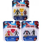 Marvel Captain America: Civil War Miniverse Figures - Iron Man & Black Widow / Ant-Man and Winter Soldier / Now Iron Man and Scarlet Witch