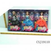 Varázspálcás barbie baba szett