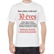 30 éves - Tréfás póló