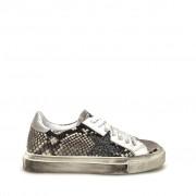 Shoe gar Sneakers Pitonate Argento Stella Glitter