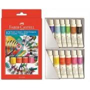 Tempera 12 culori/set, FABER CASTELL