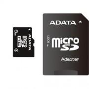 ADATA 8GB microSDHC karta Class 4 + adaptér