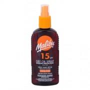 Malibu Dry Oil Spray SPF15 200 ml vodeodolný sprej na opaľovanie pre ženy
