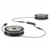SENNHEISER SP 220 UC High-end, daisy-chain UC speakerphone for medium-to-large meeting rooms, includes two SP 20 D UC speakerphones, adapter cable, QG and SG.