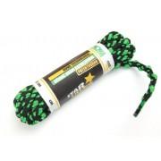 PROMA Tkaničky (šněrovadla) STAR LACES Strong 1123p0116 černo-zelená 120 cm