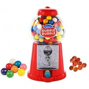 "Playo 8.5"" Coin Operated Gumball Machine Toy Bank - Dubble Bubble Classic Red Style Includes 45 Gum Balls - Kids Coin Bank"