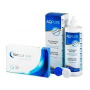 TopVue Air (6 Lentillas) + AQ Pure 360ml - ¡Oferta especial!