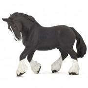 Cal negru rasa Shire- Figurina Papo