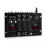 Auna Pro DJ-22BT, MKII, миксер, 3/2 канален-DJ-миксер, BT, 2xUSB, подходящ за стойка, черен (DJMM2_DJ22BT_MKII_BK)