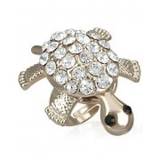 Wiggling Turtle - Guldfärgad Ring