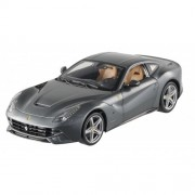 #BCJ74 Hot Wheels Ferrari F12 Berlinetta, Grey 1/18 Scale Diecast