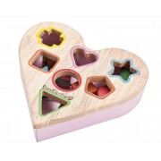 EverEarth Heart Shaped Shape Sorter With Wooden Blocks 12m+ Natural