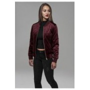 Geaca diamond quilt velvet jacket dama - Urban Classics - ROSU BURGUNDY