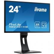 Monitor iiyama XB2481-B1, 24'', LCD, VA, 6ms, 250cd/m2, 3000:1 (12M:1 ACR), VGA, DVI, HDMI, repro, pivot, výšk.nastav.