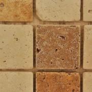 Mozaic Travertin Mixt Crem/Bej Tumbled Nechituit 4.8x4.8x1 cm