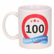Shoppartners Verjaardag 100 jaar verkeersbord mok / beker