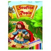 Carte de citit si colorat, Scufita Rosie