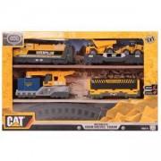 Влак с релси и строителна машина - Катерпилар, Toy state, 063076
