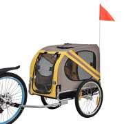 [pro.tec]® Vozík za bicykel - prepravka - do 40 kg - 130 x 73 x 94 cm