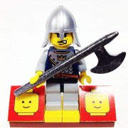 "Minifigure Packs: Lego Castle Fantasy Era Bundle ""(1) Royal Crown Guard"" ""(1) Figure Display Base"" ""(1) Figure Accessory"""