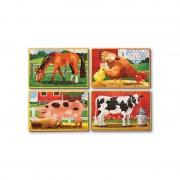 Set 4 puzzle Animale domestice, 12 piese, 20 x 15 cm
