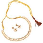 Jewar Mandi Necklace Set Kundan Pearl Polki Ad Cz Gemstones Gold Plated Jewelry for Women & Girls