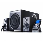 "BOXE 2.1 EDIFIER, RMS: 145W (35Wx2 + 75W), black, telecomanda wireless cu display 2'' LCD ""S530D"" (include timbru verde 1 leu)"