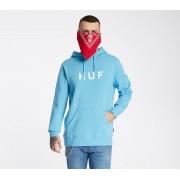 HUF Essentials OG Logo Hoodie Greek Blue