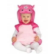 Disfarce Hipopótamo cor-de-rosa bébé