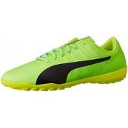 Puma Men's Evopower Vigor 4 Tt Green Gecko, Puma Black and Safety Yellow Football Boots - 10 UK/India (44.5 EU) (10396501)