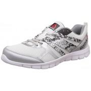 Reebok Men's Speed Xt White, Metallic Silver and Coal Running Shoes - 10 UK/India (44.5 EU)(11 US)
