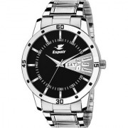 Espoir Analog Stainless Steel Day and Date Black Dial Boy's and Men's Watch - LatestBlack0507