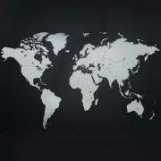 MiMi Innovations Карта на света стенна дърво Luxury бяла 130x78 см