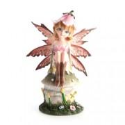 Fairy On Toadstool Trinket Box