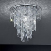 Padana Lampadari Queen Lampada A Soffitto Con Cristalli A Cascata Design Moderno