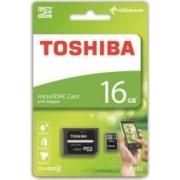 Card de memorie Toshiba M102 microSDHC 16GB Clasa 4 + Adaptor SD